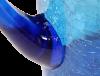 carafe verre soufflé turquoise 1