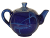 theiere ceramique emaillee bleue 2