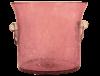 seau champagne en verre souffle rose 3