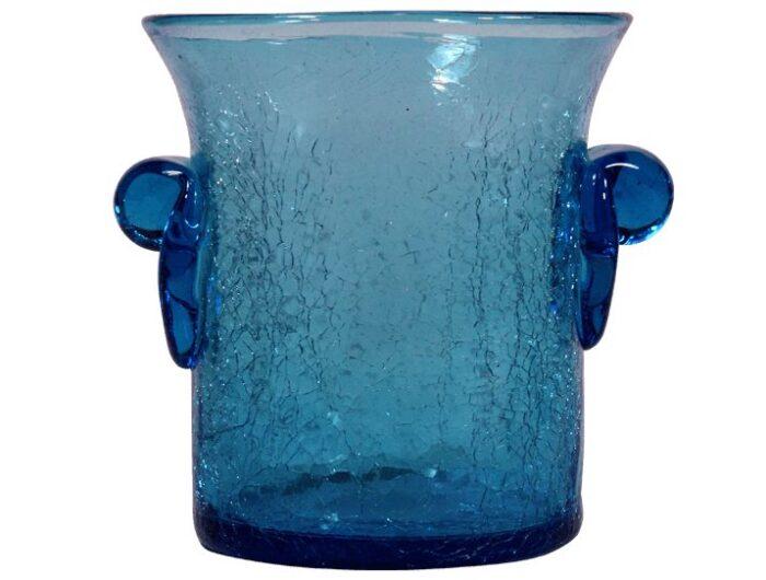 seau a glace mini en verre souffle bleu turquoise 2