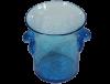 seau a glace mini en verre souffle bleu turquoise