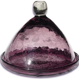 cloche camembert verre souffle violette