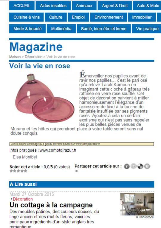 cloche a fromage en verre rose l echo republicain