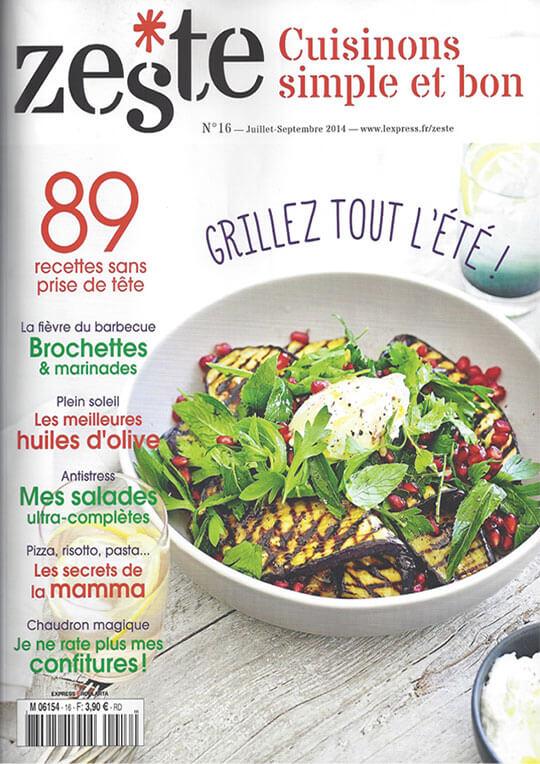 cloche en verre souffle Magazine Zeste juillet 2014