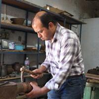 artisan dinandier cuivre martelé kais kamoun
