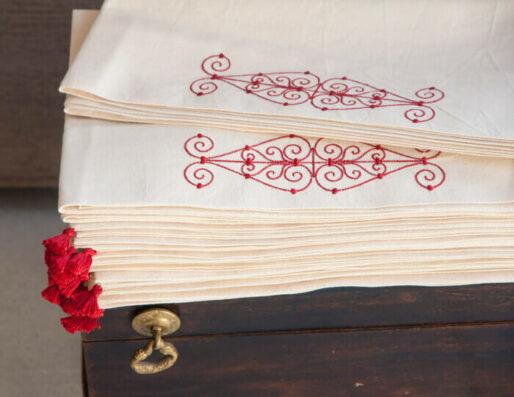 Nappes et Chemins de table en coton