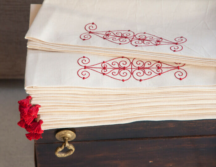 Nappes et Chemins de table en coton