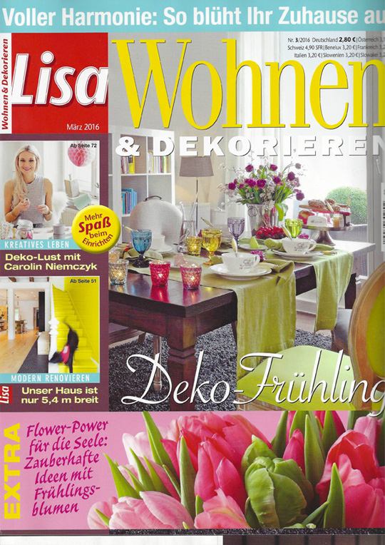 fouta orange Lisa Wohnen & Dekorieren 03 2016