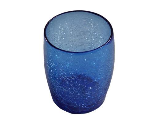 gobelet verre souffle bleu 01