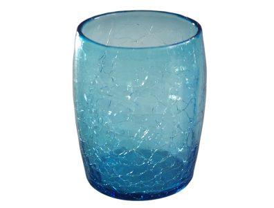 gobelet verre souffle bleu turquoise 01