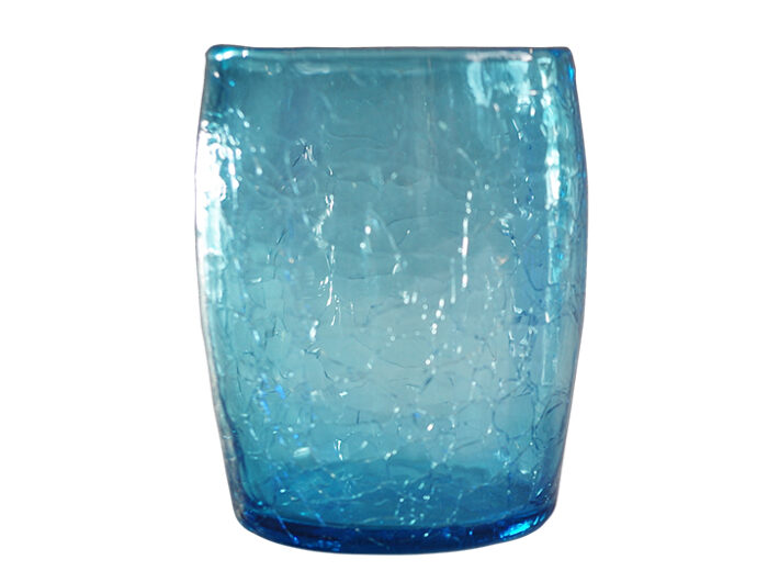 gobelet verre souffle bleu turquoise 02