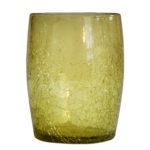gobelet verre souffle miel clair 02