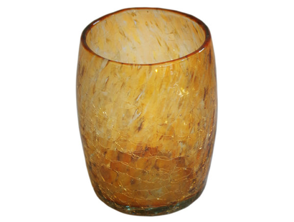 gobelet verre souffle orange 01