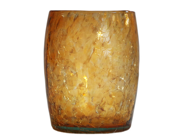 gobelet verre souffle orange 02