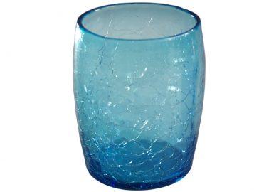 verre a eau ou a whisky turquoise en verre souffle 2