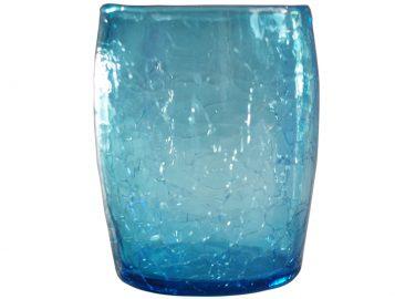 verre a eau ou a whisky turquoise en verre souffle