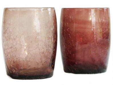 gobelet en verre soufflé violet fonce et clair 2