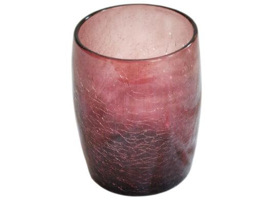 gobelet en verre soufflé violet foncé 2