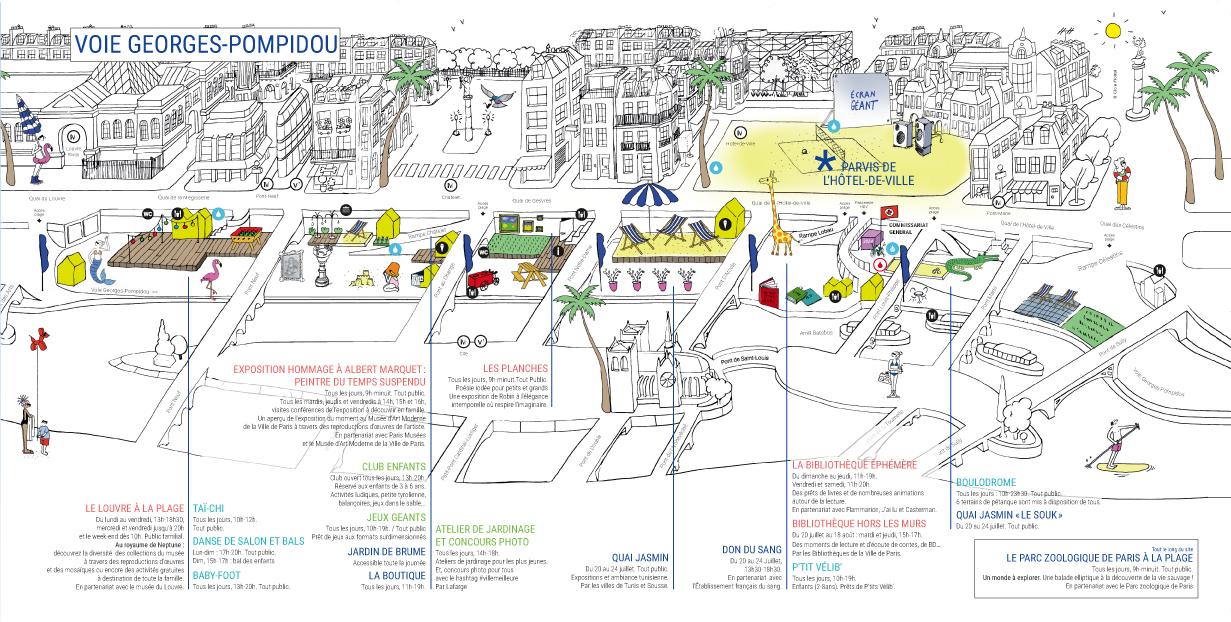 Paris Plages 2016 plan mairie de Paris