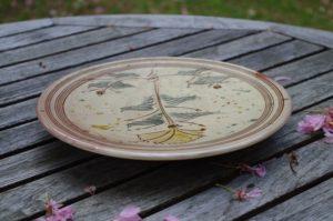 assiette décorée au clou poterie culinaire cadeau artisanal pour Noël