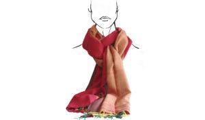 écharpe multicolore coton tissée main cadeau artisanal pour noel