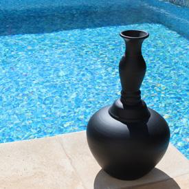 cadeau artisanal grand vase noir terre cuite