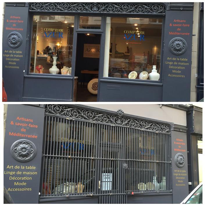 façade boutique comptoir azur paris