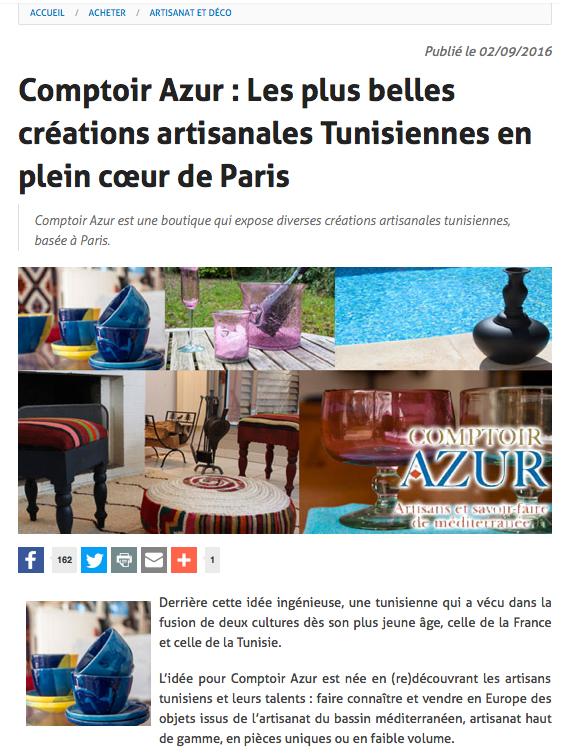 tunisie.co shopping artisanat déco 02 09 2016