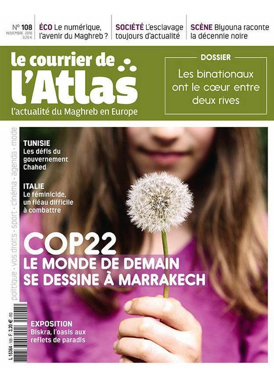 courrier de l'Atlas Novembre 2016 Comptoir Azur Boutique d'Artisanat d'Art Paris