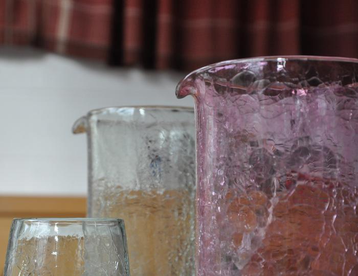 Carafes en verre soufflé