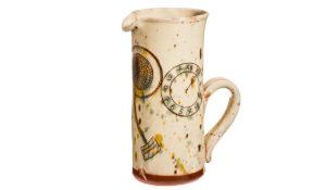 pichet cadeau artisanal pour Noël poterie culinaire décor au clou