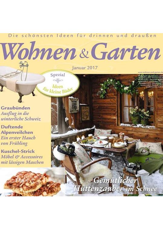 serviettes de table en tissu Wohnen Garten Janvier 2017