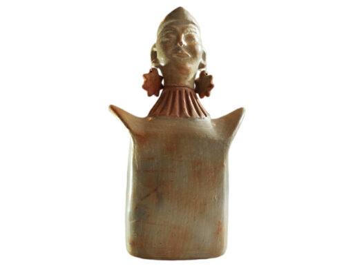 buste féminin en terre cuite