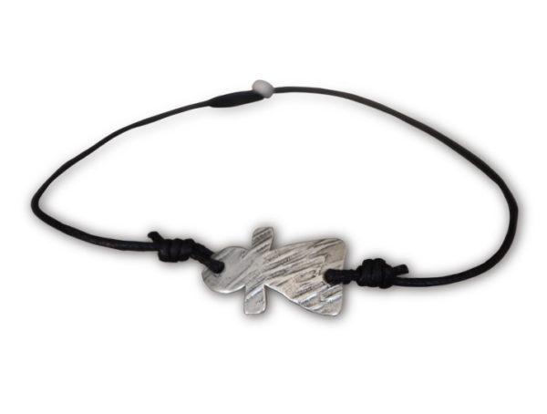 bracelet sur cordon noir tanit petit
