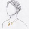collier fin cable doré pendentif poisson taille relative