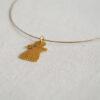 collier fin cable doré pendentif tanit petit