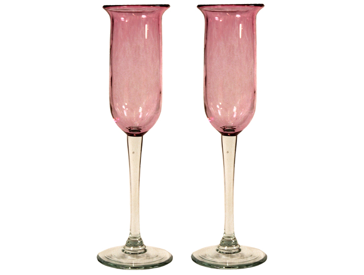 fl tes champagne artisanales en verre rose pour d guster le roi des vins. Black Bedroom Furniture Sets. Home Design Ideas