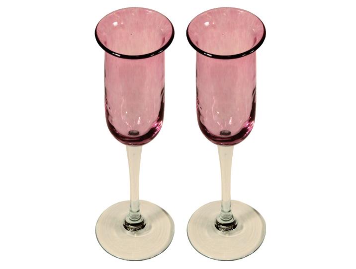Fl tes champagne artisanales en verre rose pour d guster le roi des vins - Flutes a champagne originales ...