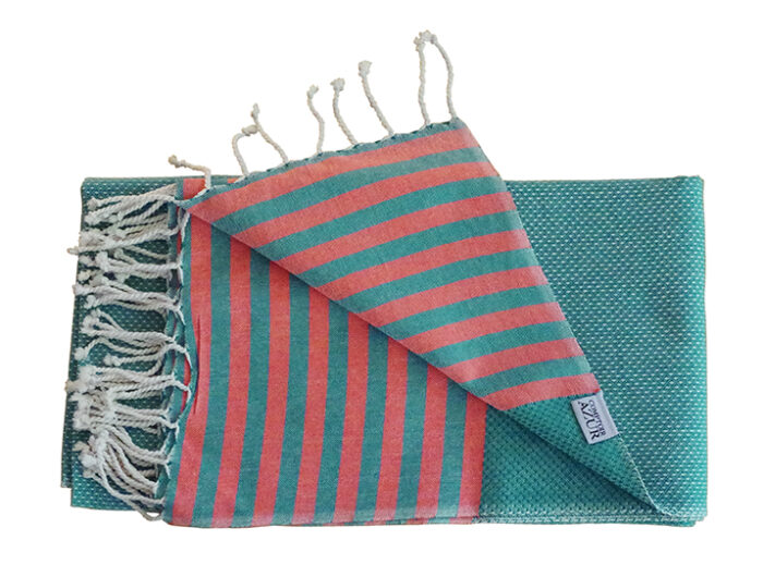 fouta-tunisienne-bleue-rayee-orange