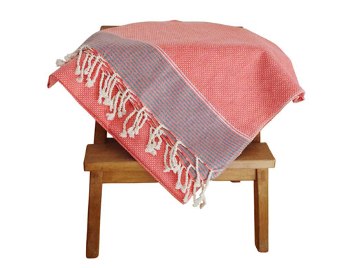 fouta-tunisienne-orange-lisere-argent-1