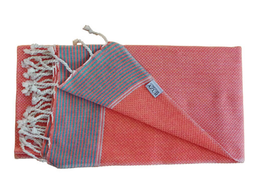 fouta-tunisienne-orange-lisere-argent-2