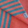 fouta tunisienne orange vif rayures bleu 3