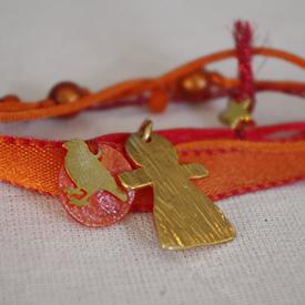 idee de cadeau maman bracelet ruban orange