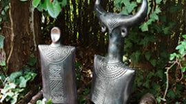 idée de cadeau maman poterie noire enfumée
