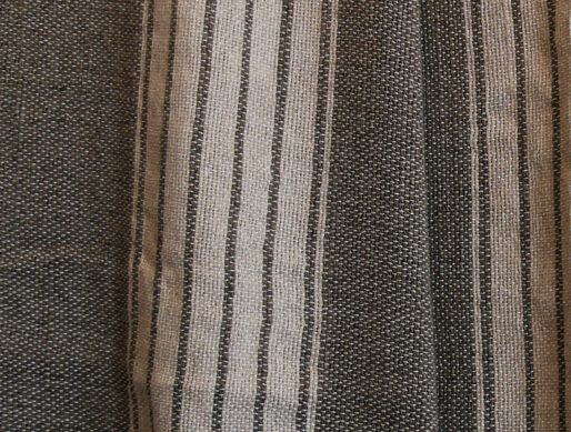 jeté de lit en coton détail du tissage