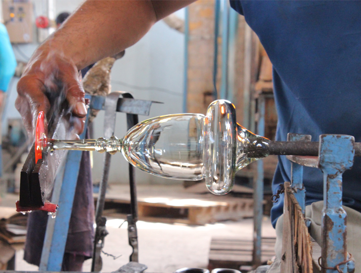 verre souffle fabrication d'un verre
