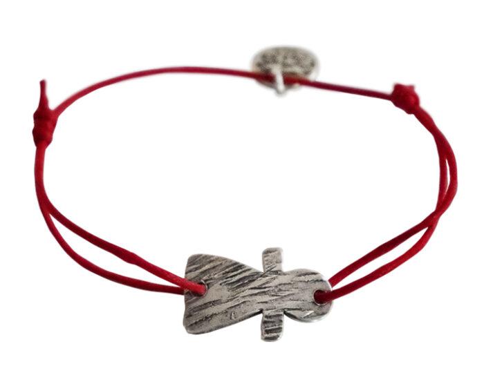 bracelet cordon rouge tanit petit argt