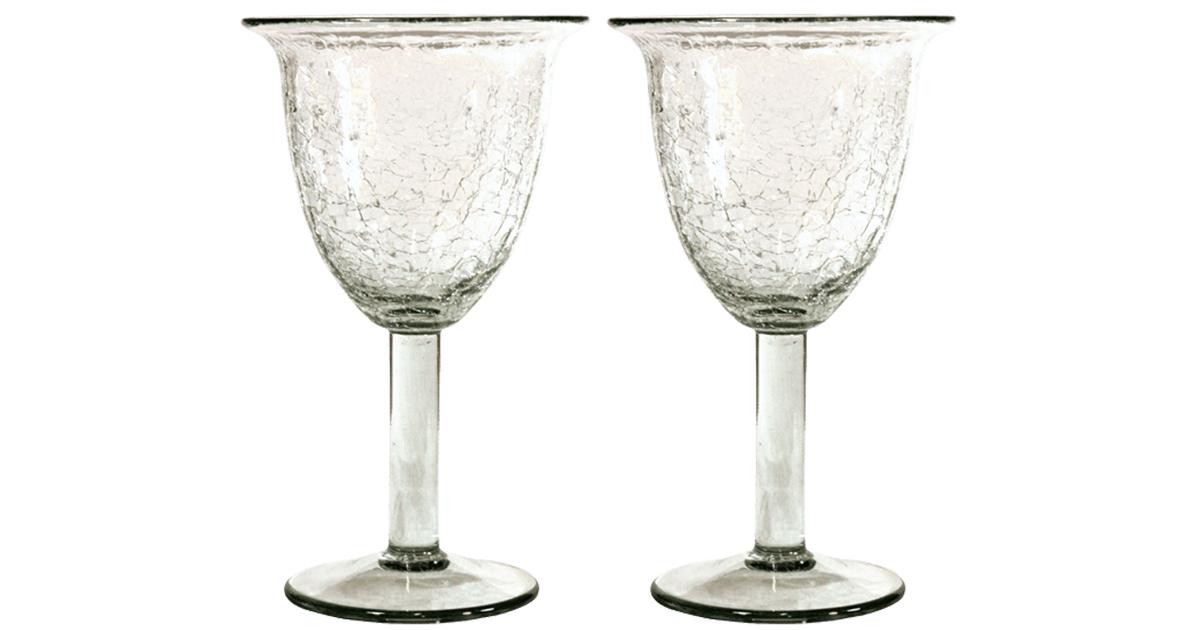 verres vin en verre souffl forme tulipe par deux. Black Bedroom Furniture Sets. Home Design Ideas