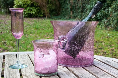 vaisselle apéro rose
