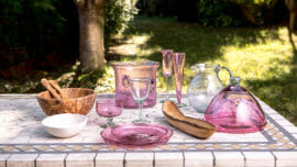 vaisselle rose tendance deco